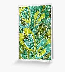 Schismatoglottis Calyptrata – Green Palette Greeting Card