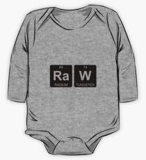 Ra W - Raw - Periodic Table - Chemistry One Piece - Long Sleeve