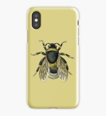 antique typographic vintage honey bee iPhone Case/Skin
