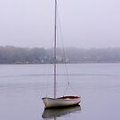 Sailboat in Fog by Debra Fedchin