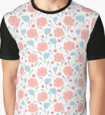 Simple doodle flower pattern. Seamless retro cute background. Graphic T-Shirt