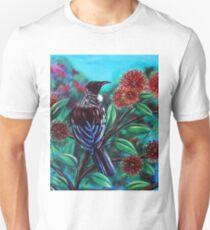 Tui in the Pohutukawa Unisex T-Shirt
