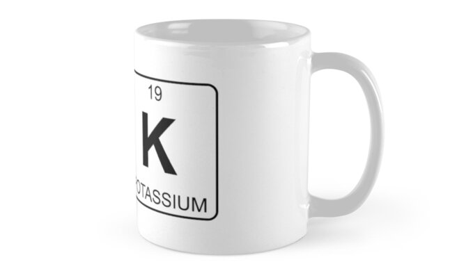 O K Ok Periodic Table Chemistry Mug By Jenny Zhang
