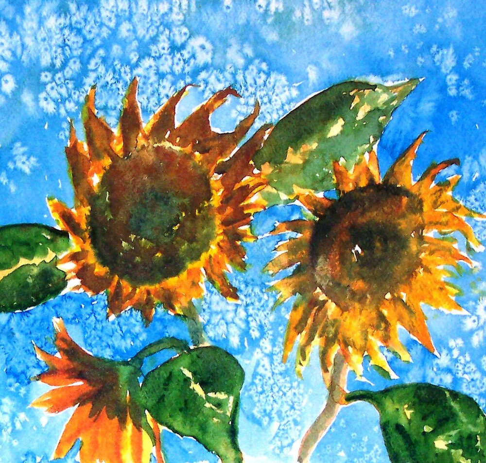 3 sunflowers by derekmccrea