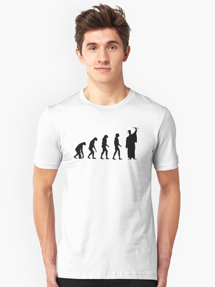 Evolved to Graduate Unisex T-Shirt Front