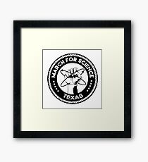 march for science astronaut Framed Print