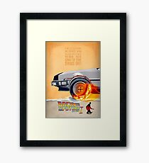 Back to the Future - Minimal Movie - Part 1 of 3 Alternative  Framed Print