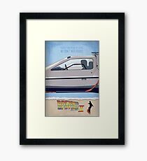 Back to the Future - Minimal Movie - Part 2 of 3 Alternative  Framed Print