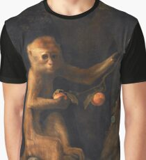 George Stubbs - A Monkey (1799) Graphic T-Shirt