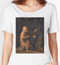 George Stubbs - A Monkey (1799) Women's Relaxed Fit T-Shirt