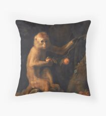 George Stubbs - A Monkey (1799) Throw Pillow