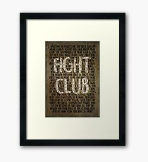 Fight Club - Rules Minimal Typo Poster  Framed Print