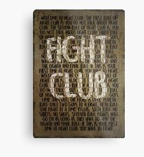 Fight Club - Rules Minimal Typo Poster Metal Print