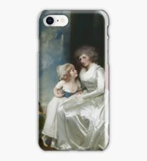 George Romney - Henrietta, Countess Of Warwick, And Her Children iPhone Case/Skin