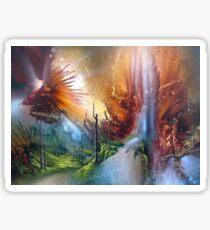 Fantasy Painting Landscape Mystical Sticker
