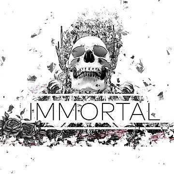 Immortal flower skull design  by designzone