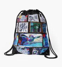 wild forest Drawstring Bag