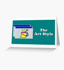 Title Card - The Art Style Greeting Card