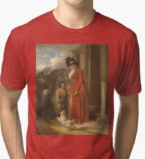 George Morland - The Squires Door  1790 Tri-blend T-Shirt