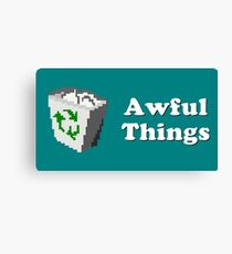 Title Card - Awful Things Canvas Print