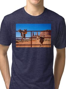 Saddle up in Monument Valley Tri-blend T-Shirt