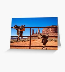 Saddle up in Monument Valley Greeting Card