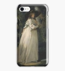 George Morland - Portrait Of A Girl In A Garden Between 1786 iPhone Case/Skin
