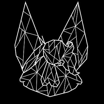 geometric bat kid - white by batprints