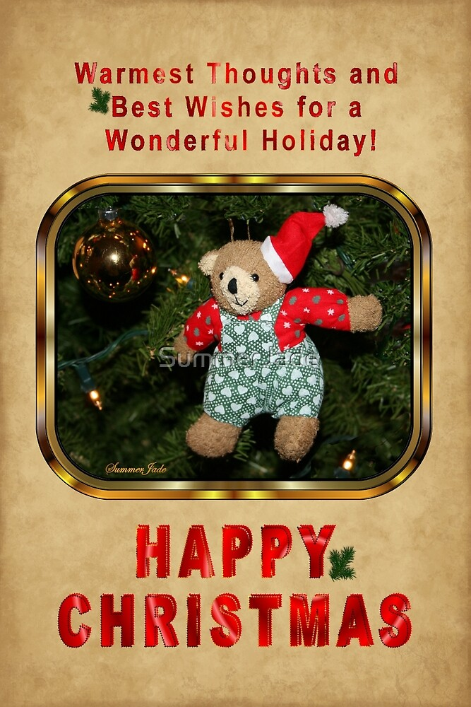 Happy Christmas Wishes ~ Teddy Bear by SummerJade