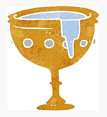 retro cartoon medieval cup Photographic Print