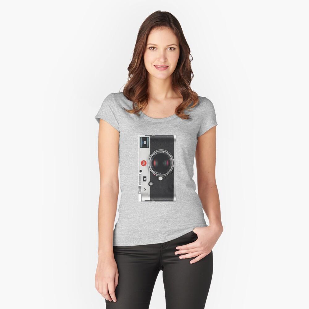 Leica Vintage Style Handyhülle Tailliertes Rundhals-Shirt