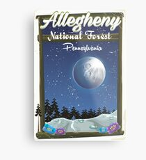 Allegheny National Forest travel poster Metal Print