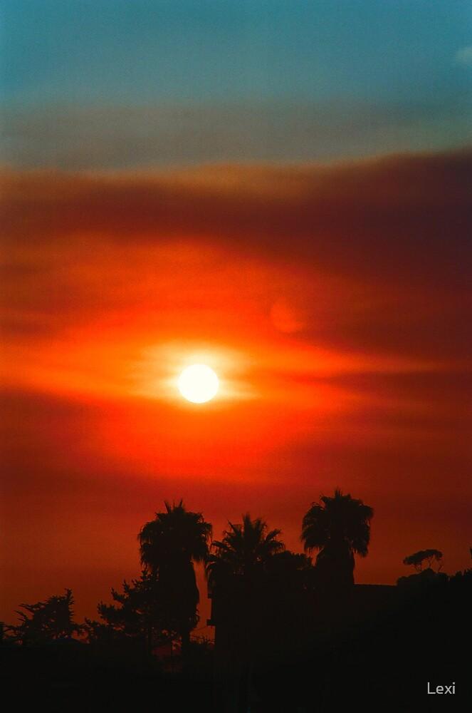 Smokey Sunset From Zaca Fire by Lexi