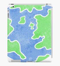 retro cartoon planet earth iPad Case/Skin