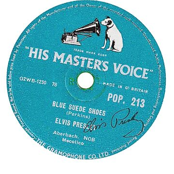Elvis - Record Label - Blue Suede Shoes by strat1963