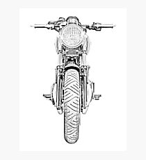 Motorcycle Front Photographic Print