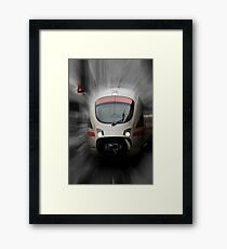STOP - Back to the Future Framed Print