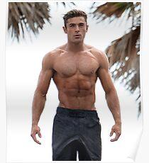 Zac Efron Shirtless Poster