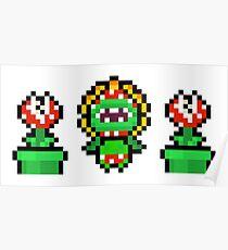 Piranha plant trio Poster