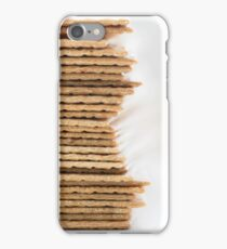 Close-up of stack of crispy wheat flat bread iPhone Case/Skin