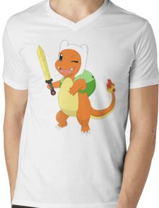 Charmander's cosplay Mens V-Neck T-Shirt
