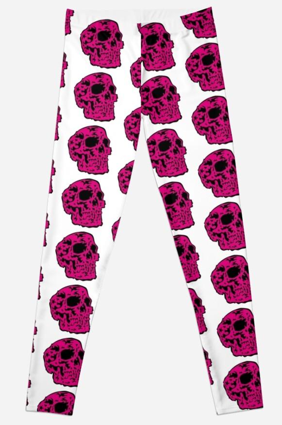 pink Skull von Ray Rubeque