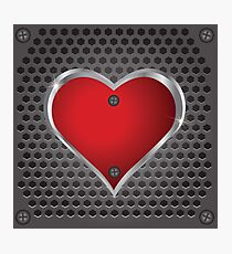 metal heart Photographic Print