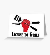 License to Grill Greeting Card