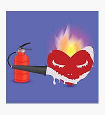 extinguisher and heart Photographic Print