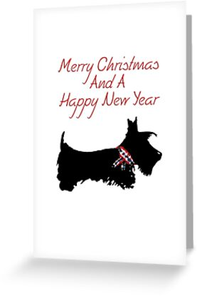 scottie dog merry christmas a happy new year by archyscottie