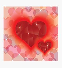 two abstract hearts Photographic Print
