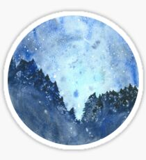 Celestial Watercolor Night Sky Sticker
