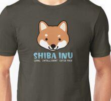 Shiba Inu: Loyal  Intelligent  Cutie Face Unisex T-Shirt