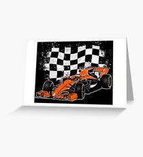 Formula 1 Racing  Greeting Card